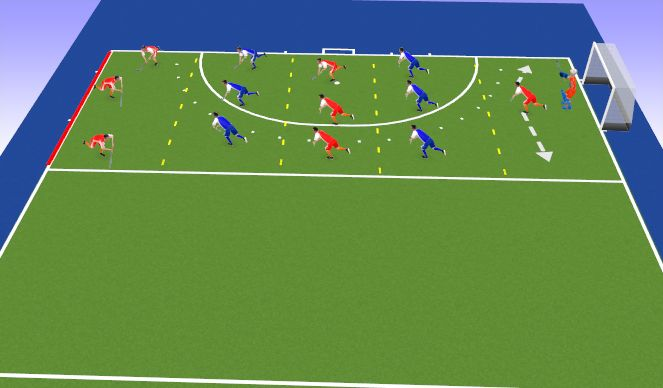 Hockey Session Plan Drill (Colour): Game Opt1