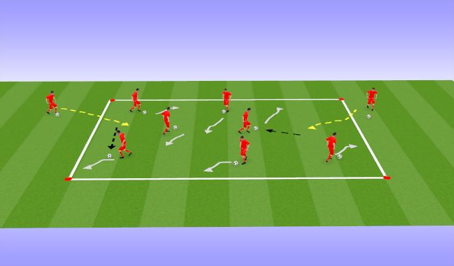 Football/Soccer Session Plan Drill (Colour): Queen of the Ring