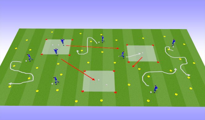 Football/Soccer Session Plan Drill (Colour): Sunday - Ball Collector