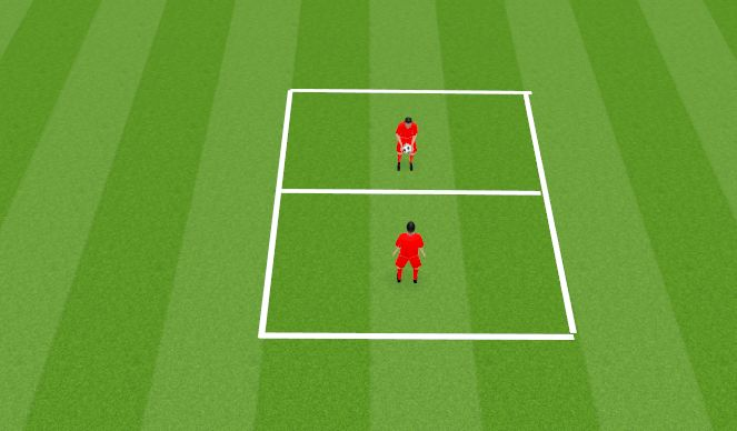 Football/Soccer Session Plan Drill (Colour): Aerial Control Competition
