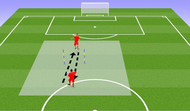 Football/Soccer Session Plan Drill (Colour): 5 Miinust
