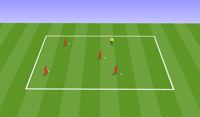Football/Soccer Session Plan Drill (Colour): Kick The Coach