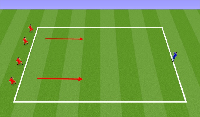 Football/Soccer Session Plan Drill (Colour): Policeman