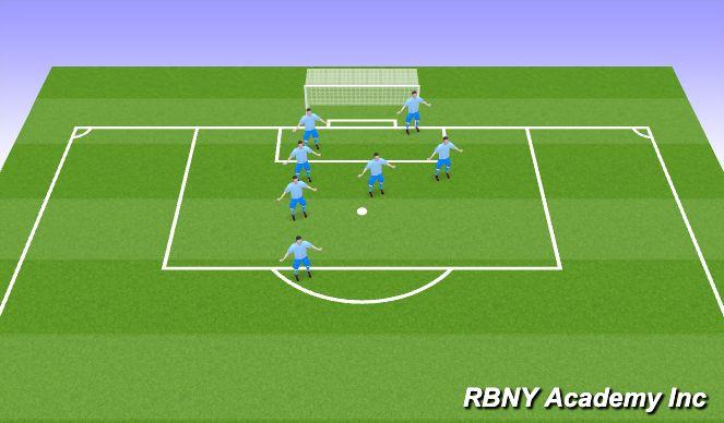 Football/Soccer Session Plan Drill (Colour): Defensive Corner