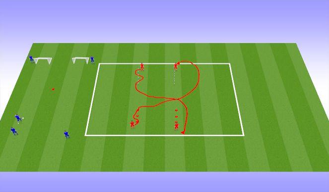 Football/Soccer Session Plan Drill (Colour): Игра с мячом и без мяча на реакцию