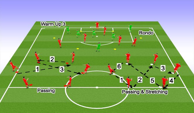 Football/Soccer Session Plan Drill (Colour): Match-Day Warm Up 3