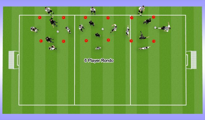 Football/Soccer Session Plan Drill (Colour): Warm-up's