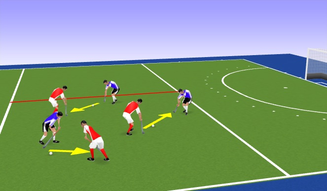Hockey Session Plan Drill (Colour): Pass & Moving (Warm-up)