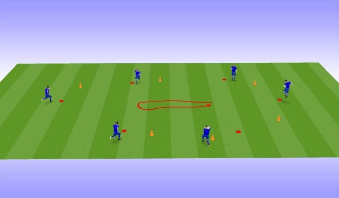 Football/Soccer Session Plan Drill (Colour): Possession Hex 4v4+1