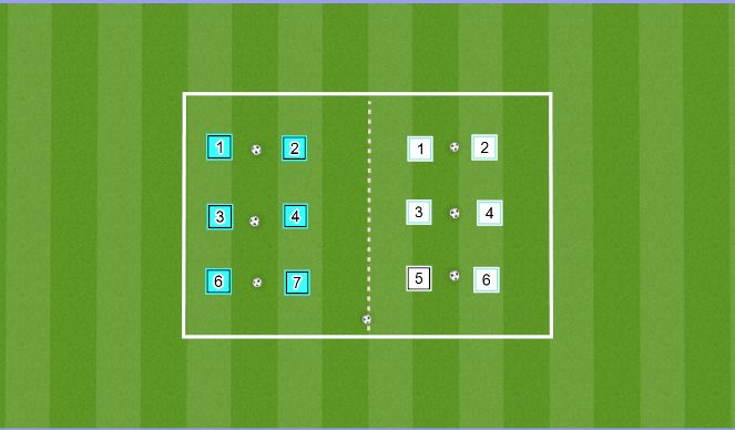 Football/Soccer Session Plan Drill (Colour): Partner Pass Warm-up