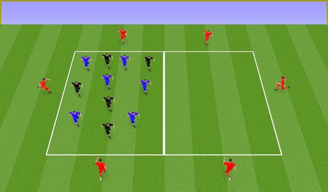Football/Soccer Session Plan Drill (Colour): Cambios de orientación + trabajo resistencia