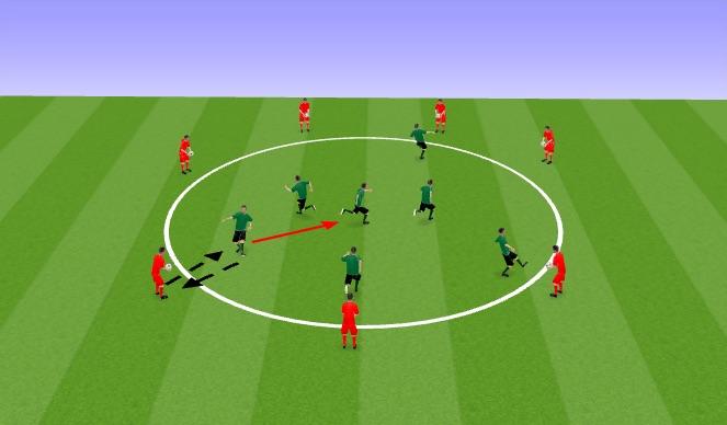 Football/Soccer Session Plan Drill (Colour): skills