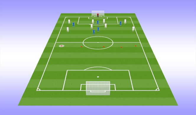 Football/Soccer Session Plan Drill (Colour): 8v5