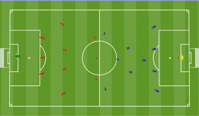 Football/Soccer Session Plan Drill (Colour): 11 v 11 Match