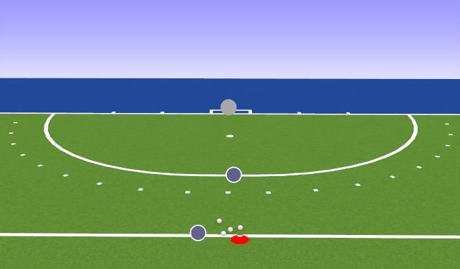 Hockey Session Plan Drill (Colour): Eingehakte Ballmitnahme + Schuss