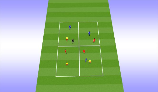 Football/Soccer Session Plan Drill (Colour): Игра на быстроту