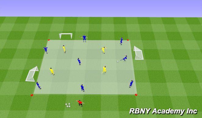 Football/Soccer Session Plan Drill (Colour): Intro - 8v4
