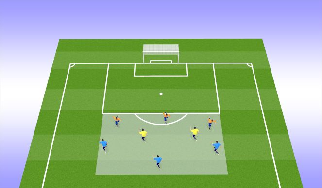 Football/Soccer Session Plan Drill (Colour): 3v3+2