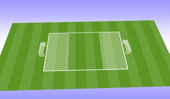 Football/Soccer Session Plan Drill (Colour): End 7v8 scenerio play