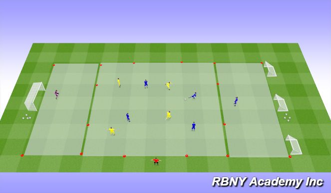 Football/Soccer Session Plan Drill (Colour): Condition - 4v4+2s