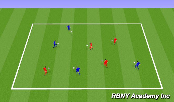 Football/Soccer Session Plan Drill (Colour): Juggling warm up - Intro