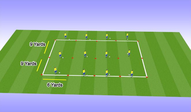 Football/Soccer Session Plan Drill (Colour): Warm Up P1