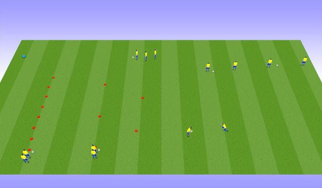 Football/Soccer Session Plan Drill (Colour): SSG. 2v1 to 1v1