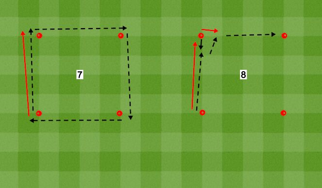 Football/Soccer Session Plan Drill (Colour): Ball Tech 7 and 8