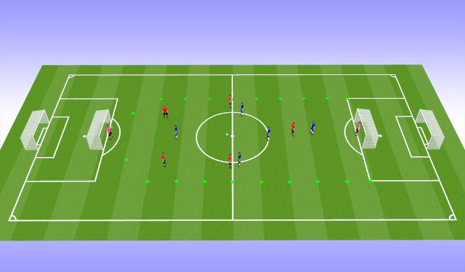 Football/Soccer Session Plan Drill (Colour): SSG Breaking Lines