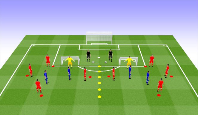 Football/Soccer Session Plan Drill (Colour): PP+