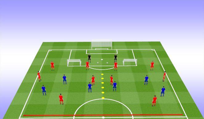 Football/Soccer Session Plan Drill (Colour): PG+