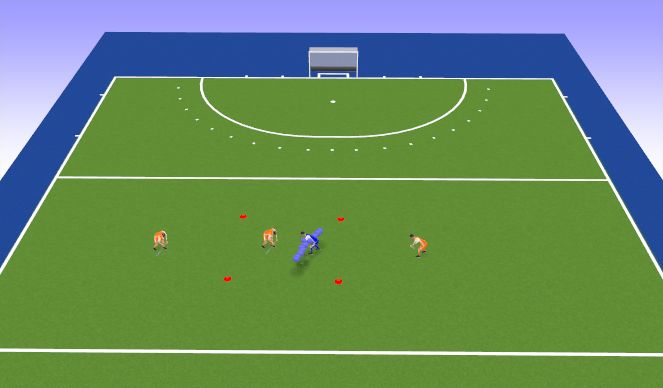 Hockey Session Plan Drill (Colour): Oefening 2