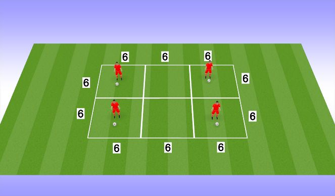 Football/Soccer Session Plan Drill (Colour): Skill Work