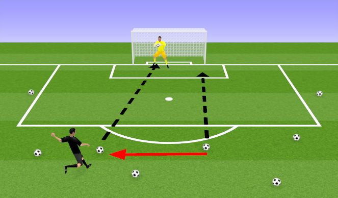 Football/Soccer Session Plan Drill (Colour): 8 Ball Challenge