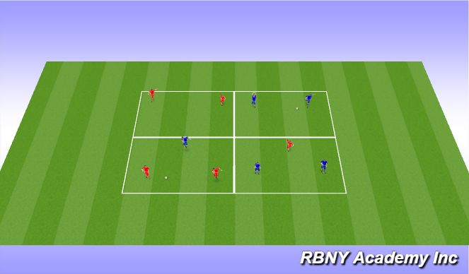 Football/Soccer Session Plan Drill (Colour): Main Act
