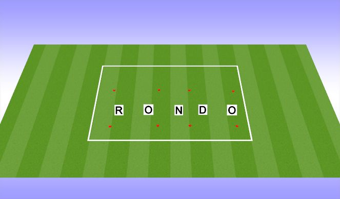 Football/Soccer Session Plan Drill (Colour): W up ( Rondo 10 min)
