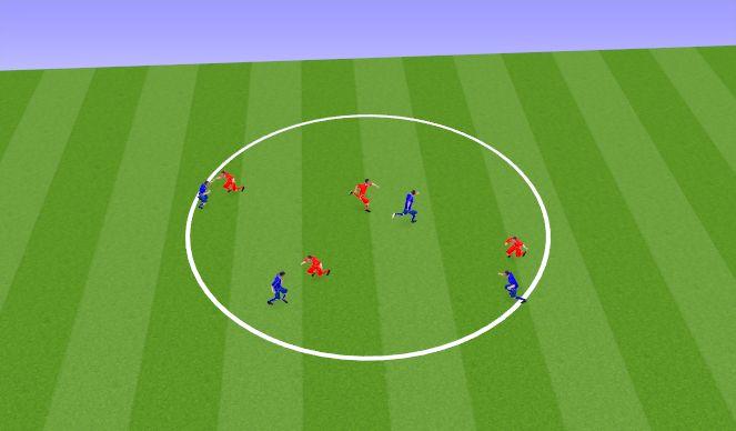 Football/Soccer Session Plan Drill (Colour): Игра с мячом на быстроту