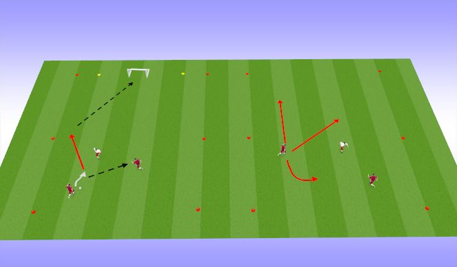 Football/Soccer Session Plan Drill (Colour): 1-2