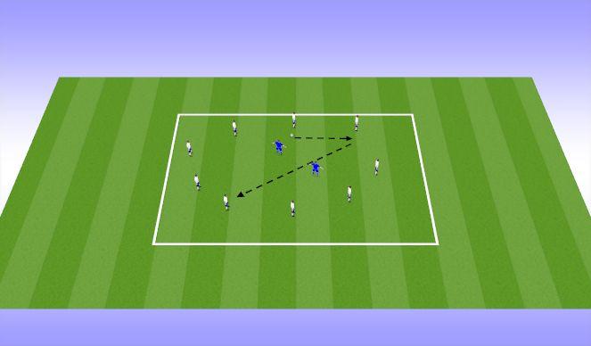 Football/Soccer Session Plan Drill (Colour): 8v2 Circle Rondo