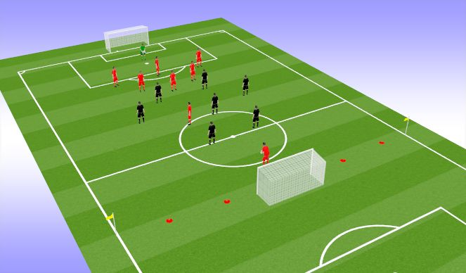 Football/Soccer Session Plan Drill (Colour): The low block SSG
