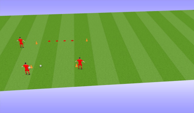 Football/Soccer Session Plan Drill (Colour): Technical ladder passing exercise