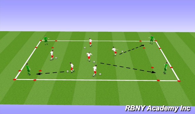 Football/Soccer Session Plan Drill (Colour): Warm-Up: Find the Target Player