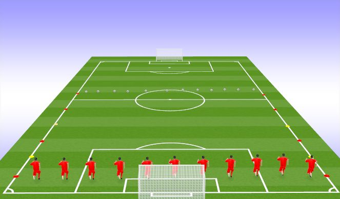 Football/Soccer Session Plan Drill (Colour): Race