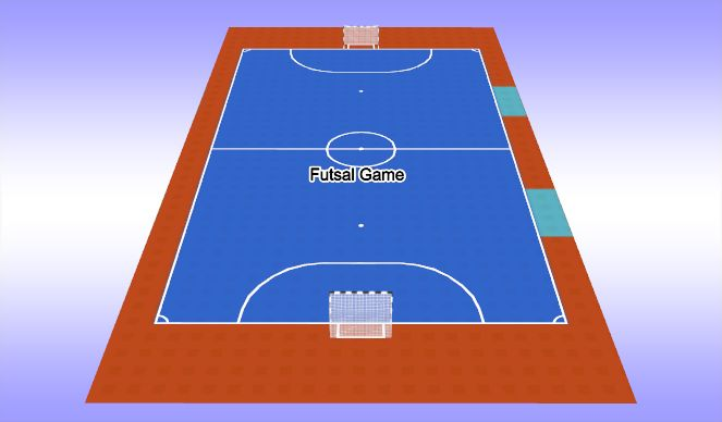 Futsal Session Plan Drill (Colour): Futsal Game