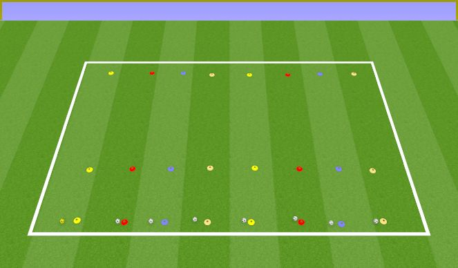 Football/Soccer Session Plan Drill (Colour): Warm up and conditioning