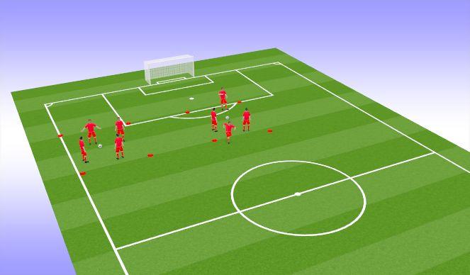 Football/Soccer Session Plan Drill (Colour): Warm-up(Valdo)