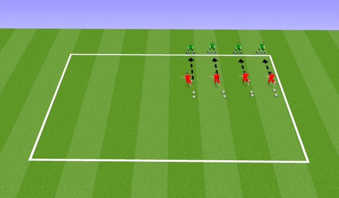 Football/Soccer Session Plan Drill (Colour): Getting Set in Rings