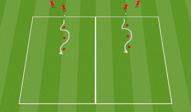 Football/Soccer Session Plan Drill (Colour): Skill Practice 2
