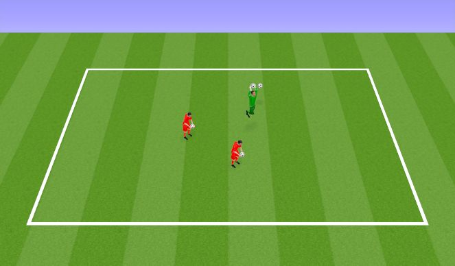 Football/Soccer Session Plan Drill (Colour): Juggling Challenge