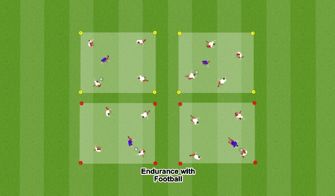 Football/Soccer Session Plan Drill (Colour): Endurance with Football